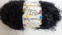 Yarn Bee Playful Fashion Yarn Knitting & Crochet Crafts Ebony Solid