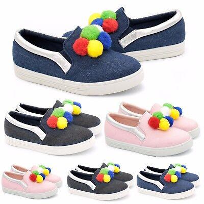 Para mujer chicas pom Estilo De Gamuza Mocasines Zapatillas De Tenis Zapatos Planos Zapatillas Bombas De Calidad