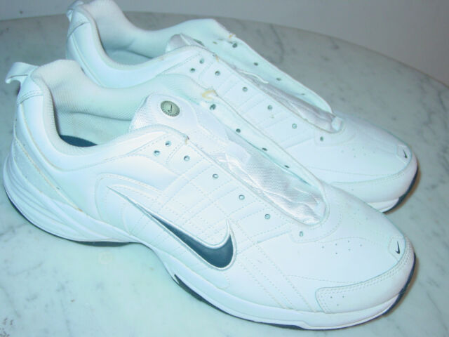 29f0d0c00c5bc Nike T-lite VIII Leather Size 13 Mens White Black Shoes for sale ...