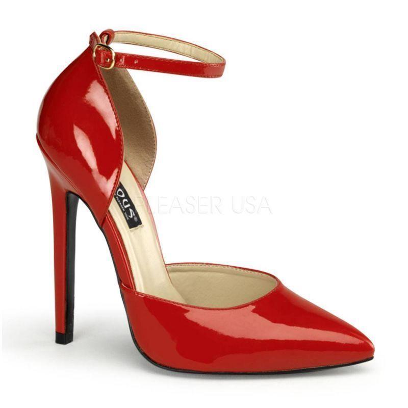 DEVIOUS Sexy Stiletto D Orsay High Heels mit Riemchen Sexy-21 Pleaser Pumps ...