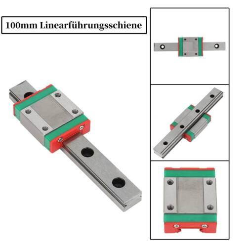 100mm Linear Shaft Linearwelle Linearführung Linearlager Gleitschiene Set DA 05