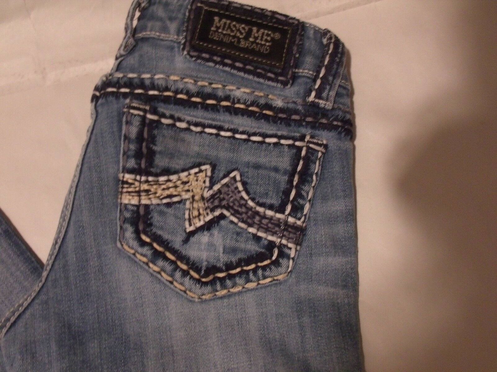 MISS ME SUNNY SKINNY SZ 26 DISTRESSED LIGHT WASH blueE JEANS