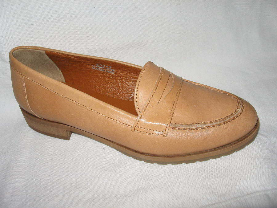 Madewell New in Box Perfect Penny loafer Shoes Size:8.5 Color:Antler Re:$168+Tax