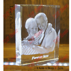 Unique Wedding Gifts Au : ... -Photo-Frame-Crystal-Glass-Laser-Etched-Birthday-Lover-Wedding-Gift