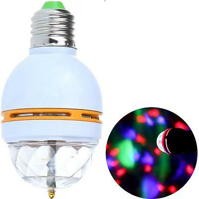 E27 Colorful Rotating RGB 3W LED Stage Light Bulb Voice-activated DJ Party