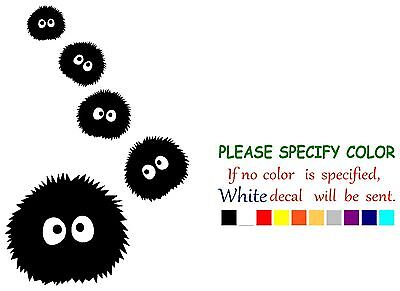 "Spirited Away Dust Bunnies #4 Decal Sticker JDM Funny Vinyl Car Window Bumper 7/"""