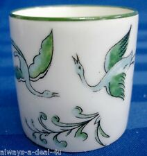A. Vignaud Limoges France Porcelain Green Mini Cup With Flowers & Birds