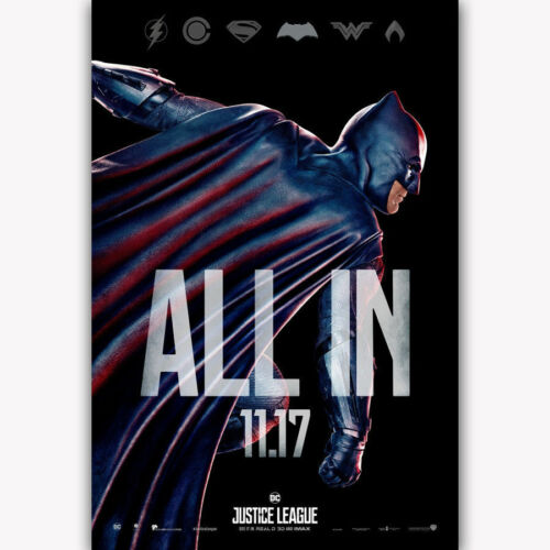 "24x36/"" 27/"" P-389 Art Justice League Batman 2017 All In Superhero Movie Poster"