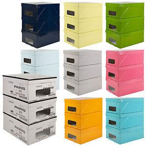 3 erscheinen unter bett aufbewahrungsboxen mit deckeln kleider handwerk klappbar ebay. Black Bedroom Furniture Sets. Home Design Ideas
