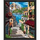 Wizardi European Alley Kit & Frame Paint-by-Number Kit