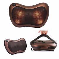 Electronic Massage Pillow Massager Cushion Car Lumbar Neck Back Shoulder Massage
