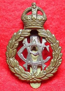 Army Veterinary Corps By-Metal Cap Badge with Slider K.C WW 1