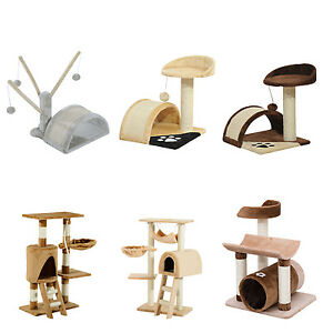 Cat-Tree-Activity-Centre-Scratcher-Scratching-House-Climbing-Tower-Toys-Tunnel