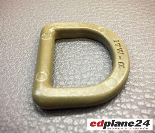10 x Halbrund-Ring Kunststoff  oliv Breite=25 mm D-Ring Ringe Ringe D-Ringe
