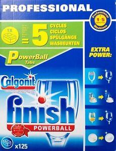 Tabs-finish-Professional-POWERBALL-125-Stueck-Geschirrspuelmittel-Reinigungsmittel