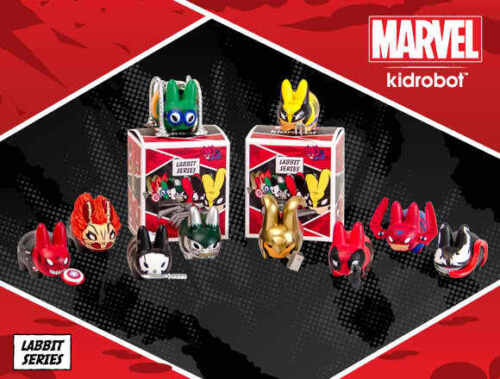 "KIDROBOT MARVEL SERIES 1 MINI LABBIT 2.5/"" VINYL 20 PCS KOZIK DISPLAY BOX SEALED"