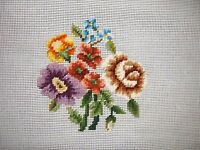 Ep 2684 Vintage Floral Preworked Needlepoint Canvas