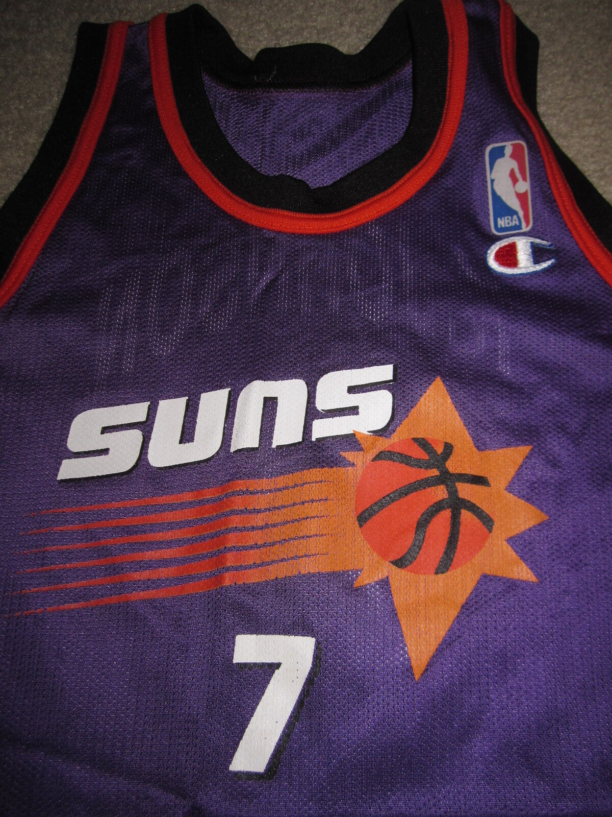 Kevin Johnson KJ  7 Phoenix Suns NBA Champion Trikot Trikot Trikot YOUTH S 8 Small Kinder 66966b