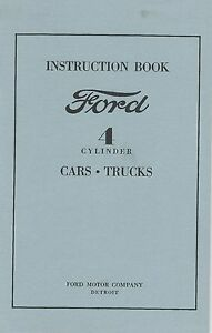 Instruction Book - Ford - 4 Cylinder Cars-Trucks
