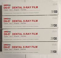 4x Umg Ds-57 D Speed Size 2 Periapical Vinyl Pack Dental X-ray Film 130/box Fda