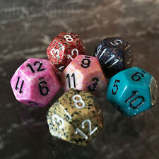 Chessex Dice : d12  - Random Set of 6 - Free Bag! Twelve Sided