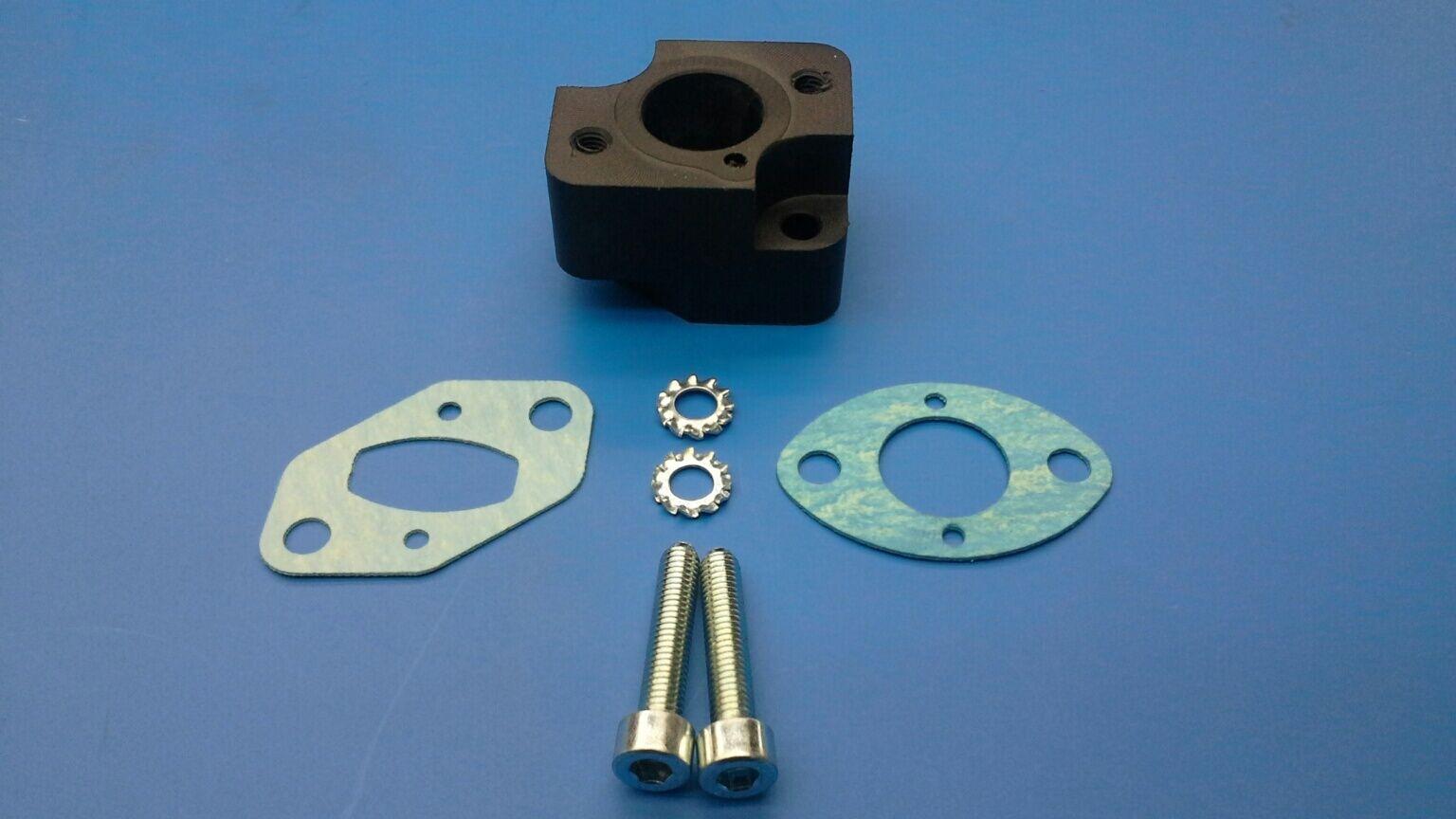 Lauterbacher Tuning-Isolator 25 mm hoch mit 2 Dichtungen für Zenoah G 260 RC