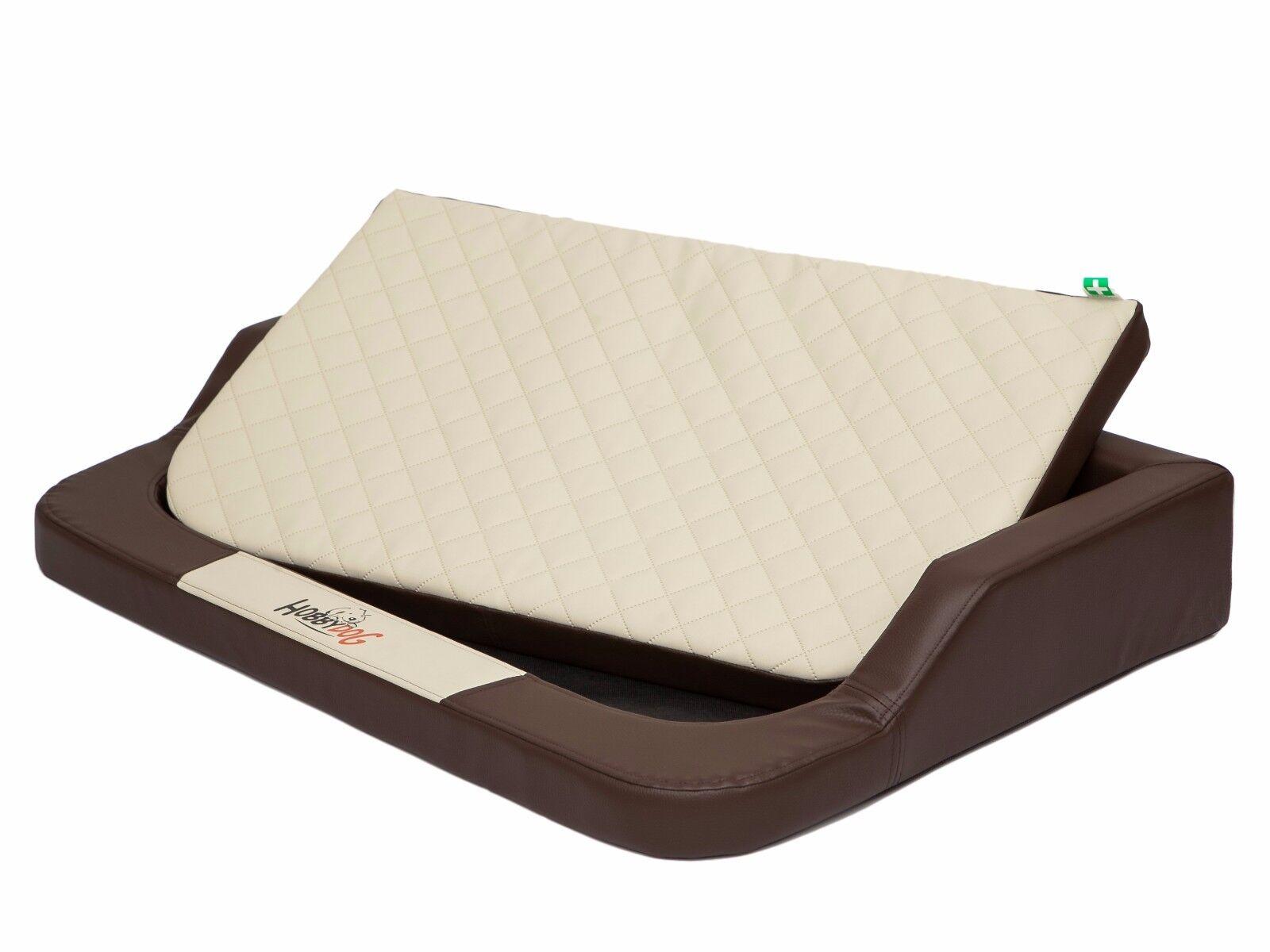 GRANDE letto letto letto Cane Tappetino Luxury è ECO PELLE GRANDE DIVANO memory foam unico 49f7f5