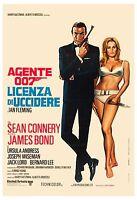 James Bond: Dr. No Sean Connery Italian Movie Poster R-1972
