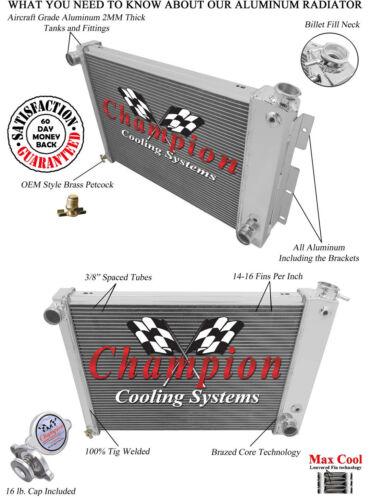 Firebird Camaro Champion Cooling Systems 2 Row AR Radiator Big Block Cooling