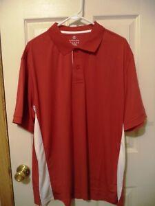 """100% De Qualité Land's End Homme Anti-humidité Active Polo Shirt, 100% Polyester, Rouge, Xl-ng Active Polo Shirt, 100% Polyester, Red, Xl"""" afficher Le Titre D'origine"""