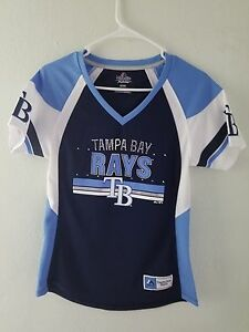 515e14c7 Details about NEW Majestic MLB Apparel Tampa Bay Rays V-Neck Jersey Womens  NWT
