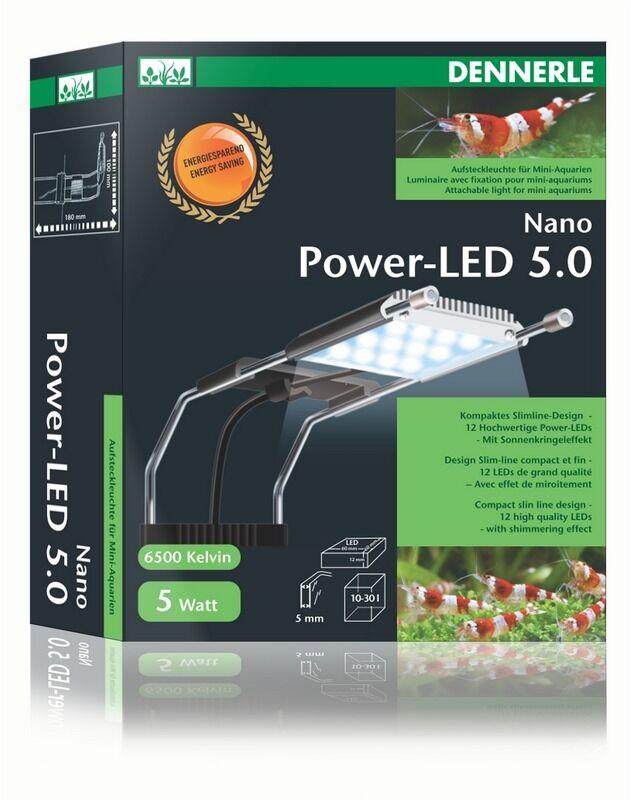 Dennerle Nano Power LED 5.0 5W 500 Lumen Aquariumbeleuchtung Licht für Aquarien