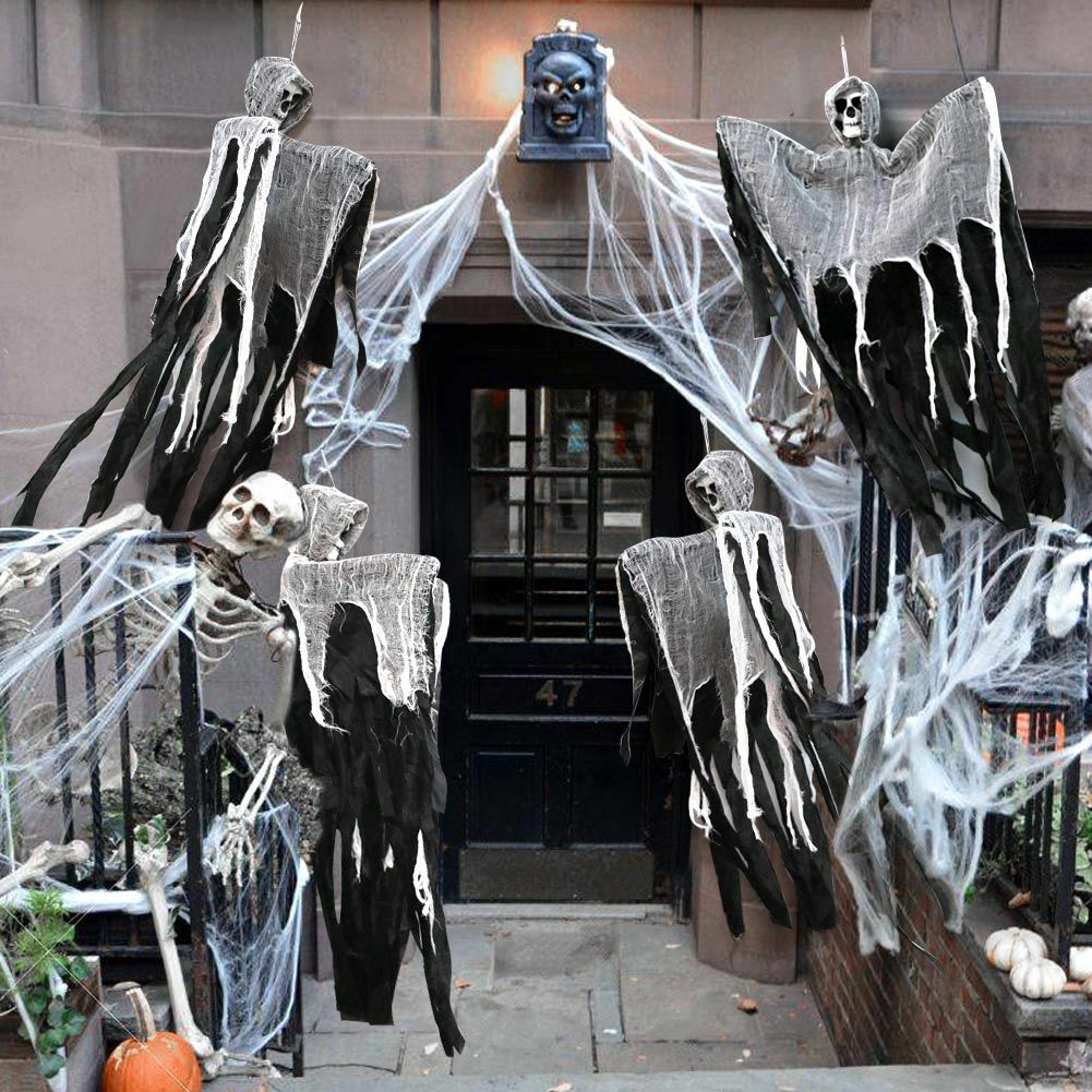 DIY Skeleton Ghost Skull Horror Hanging Grim Reaper Props Halloween Decorations