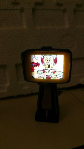 Dollhouse tv atomic age lighted jetsons black 12 volt 1:12 LED predicta