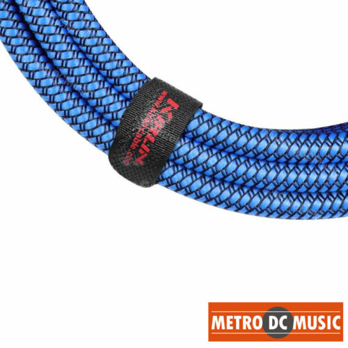 "Kirlin 10ft Blue Woven Guitar Bass Instrument Cord Cable 20AWG 1//4/"" Free Tie NEW"