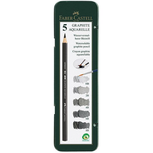 Faber-Castell - Graphite Aquarelle Pencil Tin of 5