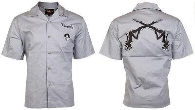 DRAGONFLY Mens BUTTON DOWN Shirt MUD FLAPS Girls Biker Mechanic Work L-XXL $50