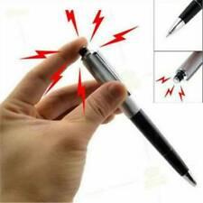 Funny Shocking Electric Shock Novelty Metal Pen Prank Trick Joke Gag Toy Gift
