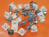 Ford License Plate Screws & Nuts 1950 & Up (qty 32 Pcs) 1009