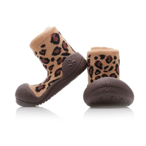 ATTIPAS ANIMAL BROWN little baby shoes best walking slip resistant soles boots