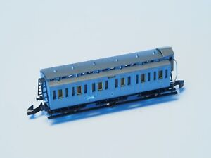 Marklin-Z-Scale-OLD-ERA-COMPARTMENT-Wurttemberg-Passenger-Car-brakeman-cab-gray
