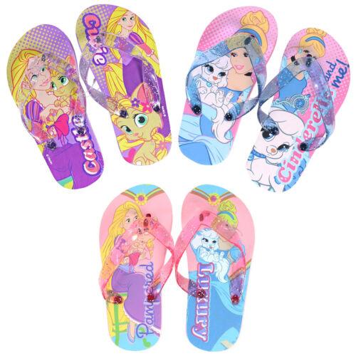 Pour Enfant Tongs Disney Princesse Palace Pets Tailles 6-7 8-9 10-11 12-13