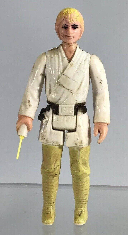 Vintage Original Star Wars Farm Boy Luke Skywalker 3.75  Figure Complete AS IS