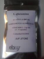 L-glutamina,100 CAPSULAS 500mg 2bolsas de 50 capsulas:Mejor recuperador muscular