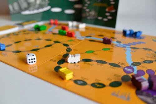 Gesellschaftsspiele Brettspiel Schlesische Bahnreise/Podróż koleją po Śląsku EISENBAHN SCHLESIEN