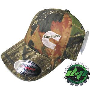 Dodge Cummins Camo Tree Mossy Oak flexfit hat ball cap fitted flex ... 9276f3652f03