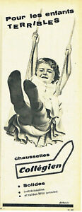 Publicite-Advertising-107-1960-chaussettes-enfant-Collegien