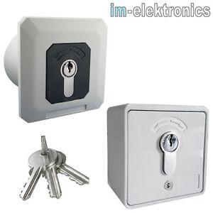 interrupteur clef cl ap o up porte garage moteur op rateur de enroulement ebay. Black Bedroom Furniture Sets. Home Design Ideas