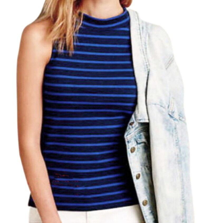 Anthropologie Eiffel Tank Small 2 4 bluee Stripes Cotton French Top Shirt NWT