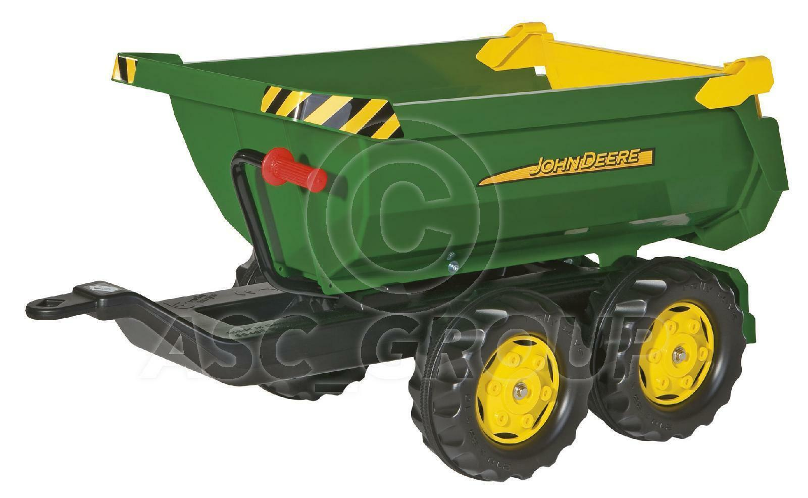Rolly Toys - Large John Deere Green Halfpipe tipping Trailer Trailer Trailer for Rolly Tractors 2f5676